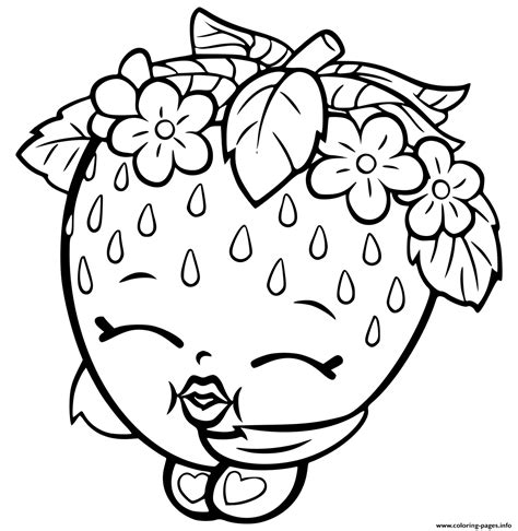 print out coloring pages of shopkins print shopkins strawberry coloring pages looks good