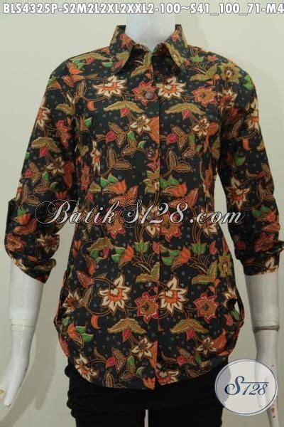 desain kemeja batik keren blus batik keren modis desain kerah kemeja berbahan halus