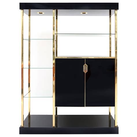 etagere 200 cm black and brass etagere at 1stdibs