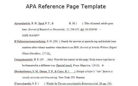 reference page template spreadsheettemple