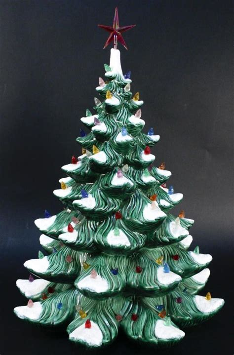 vintage 20 quot ceramic christmas tree