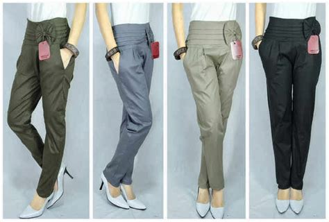 Celana Harem Ala Korea til modis dengan celana harem korea import merpati tempur