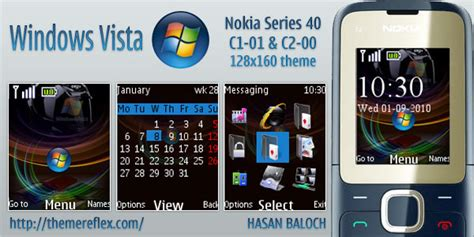 mobile9 themes nokia c2 00 windows vista theme for nokia c1 01 c2 00 themereflex