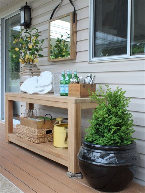 Outdoor Vignette on my Patio: Before & After   Maria