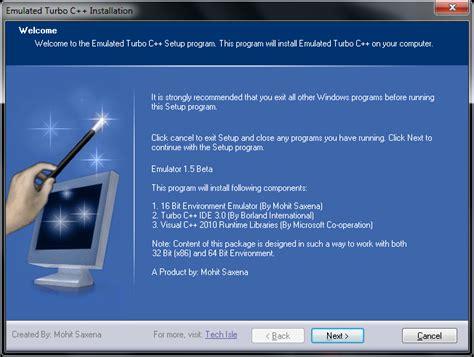turbo c for windows 8 7 81 vista 32 bit 64 bits turbo c for windows vista and windows 7 x86 64 bit