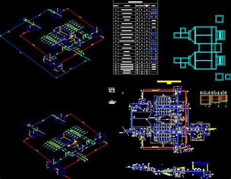 plant water treatment  dwg model  autocad designs cad