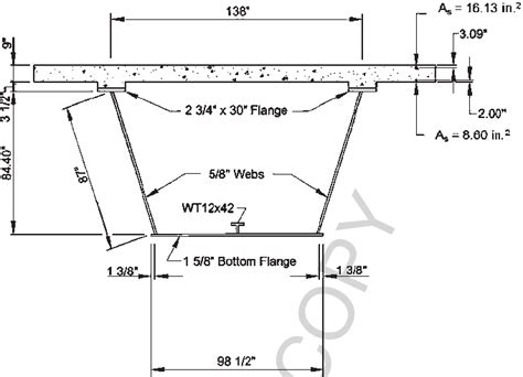 cross sectional dimension cross sectional dimensions of the steel box girder bridge 8