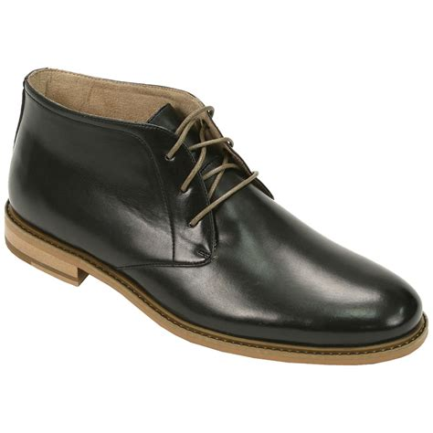 s deer stags 174 seattle lace up boots black 615647