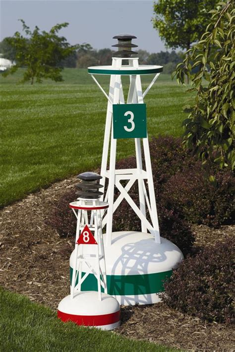 nautical themed backyard ornamental fiberglass buoy