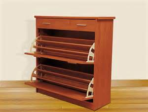 shoe rack closed wooden shoe rack with 2 drawer stand design ideas