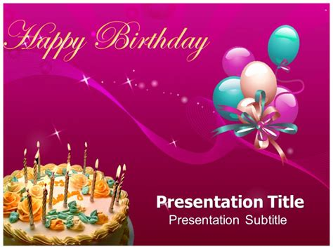 happy birthday template powerpoint powerpoint presentation templates for birthday free