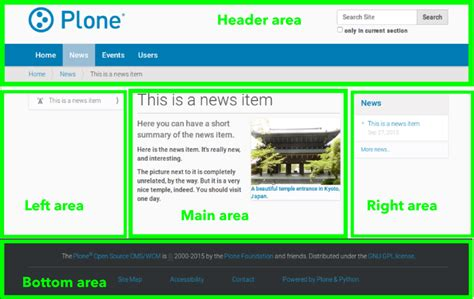 screen layout design exles visual design of plone web sites plone documentation v5 1