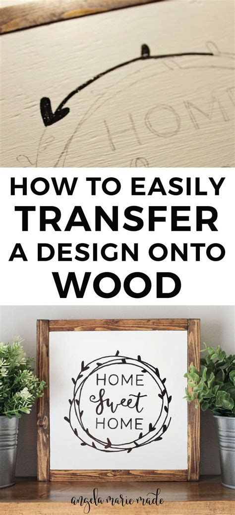how to make home decor signs how to easily transfer a design onto wood diy wedding