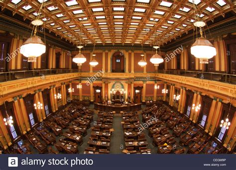 Michigan House Of Representatives State Capitol Building Lansing Stock Photo