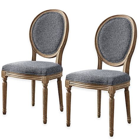 oval back dining room chairs shiraz linen oval back dining chairs set of 2 bed bath