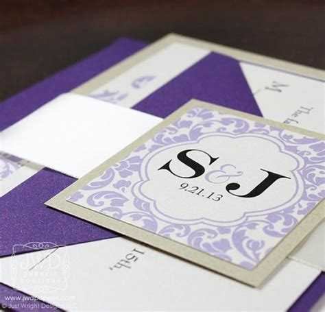 Wedding Invitations Lavender by Chagne Lavender Periwinkle Purple Wedding Invitation