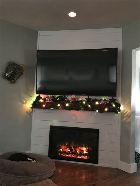 Shiplap Corner Fireplace 36 Best Images About Fireplace On Electric