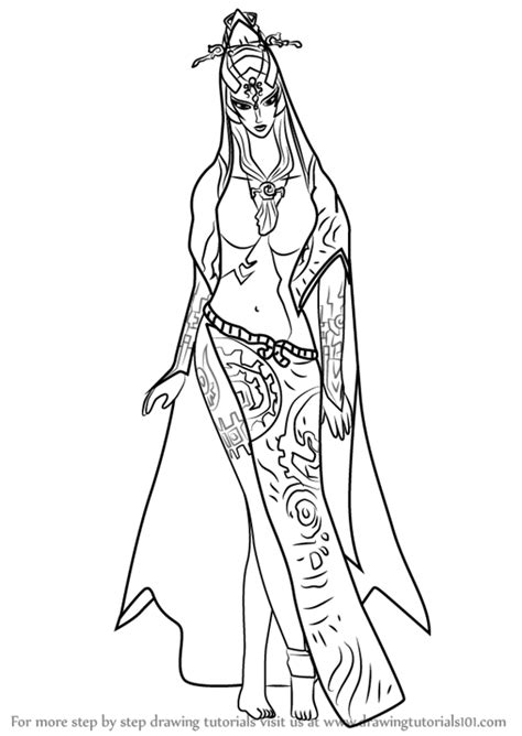 Midna Coloring Pages