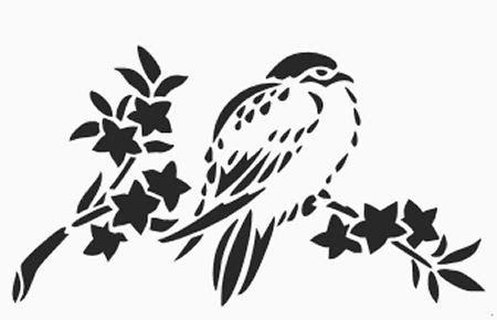 printable wall stencils birds printable bird on branch stencil