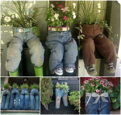 cool planters made from unusual recycled objects 40 creative diy garden containers and planters from