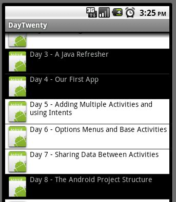 android layoutinflater programmatically 31 days of android day 20 listviews