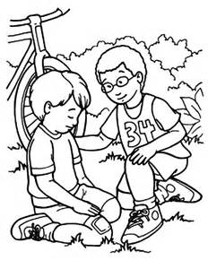 i can be a friend coloring page kindness helping friend