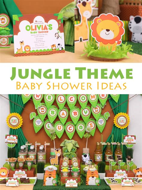 How To Make Baby Shower Decorations At Home by Jungle Theme Baby Shower Ideas