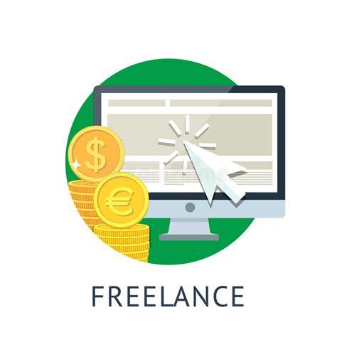 freelance icon stock vector illustration of finance