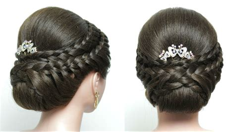 Easy Wedding Hairstyles With Braids by Easy Wedding Updo With Braids Bridal Hairstyle For