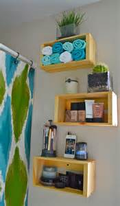 Crate Shelves Bathroom by Wooden Crate Shelving