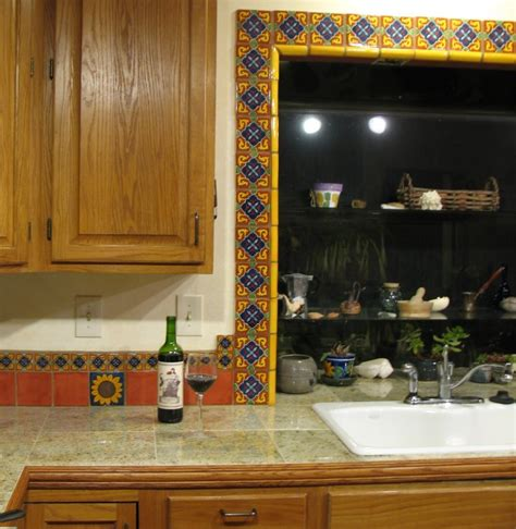 kitchen with mexican tiles backsplash for the home mexican tile around the window mexican home decor gallery