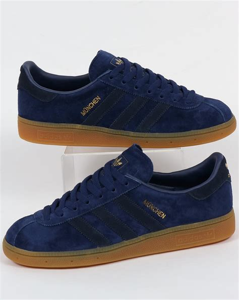 Adidas Nevy adidas munchen trainers blue navy rich originals mens