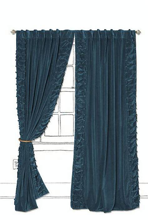 velvet turquoise curtains parlor curtain anthropologie com