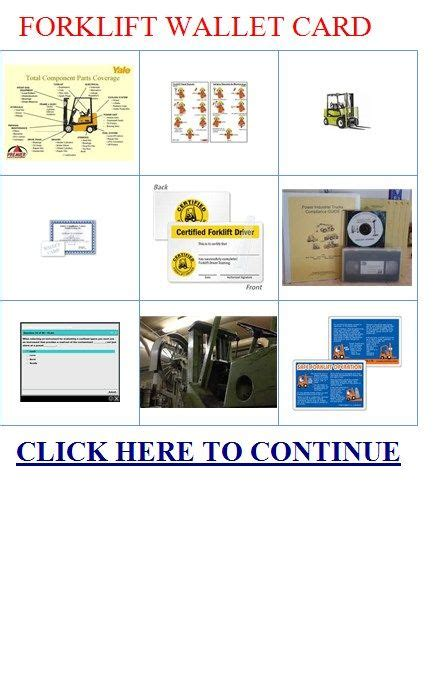 forklift card template 17 best images about ehs templates on
