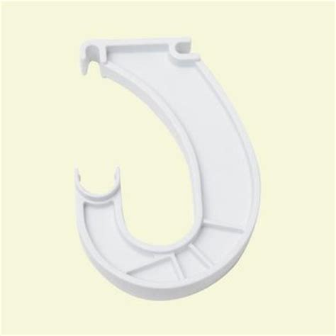 Closetmaid Rod Bracket Closetmaid Superslide 3 7 8 In White Closet Rod Support