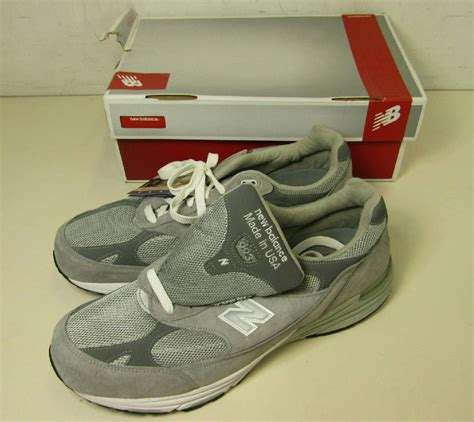size 15 mens athletic shoes pair of new balance s gray running shoes sneakers 993