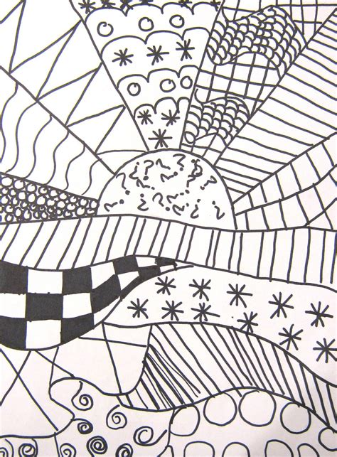 simple drawing patterns art in the middle school pattern crazy