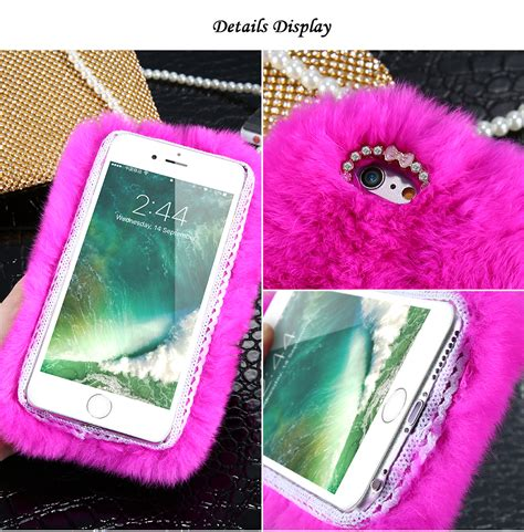 Ring Rabbit Samsung J5 Prime ᓂkisscase genuine rabbit fluffy fluffy fur for