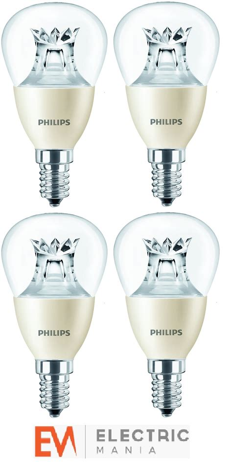 4x philips warmglow bulb l light e14 small edison led dimmable globe