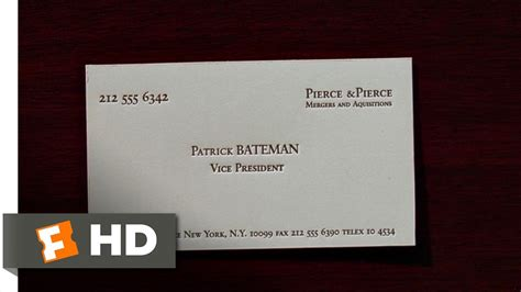 american psycho business card template american psycho 2 12 clip business cards 2000