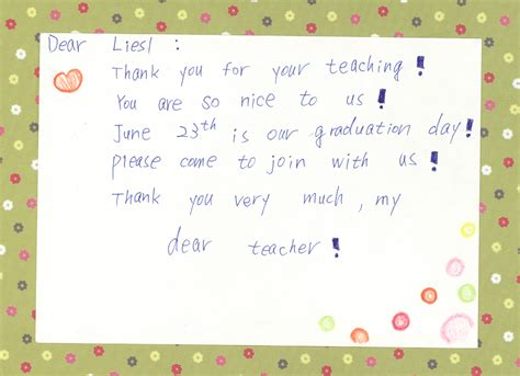thank you letter for teachers day letter of application letter of day