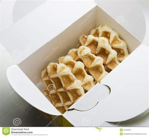 Paket Snack 1 waffle in the box package stock image image of food 41453913