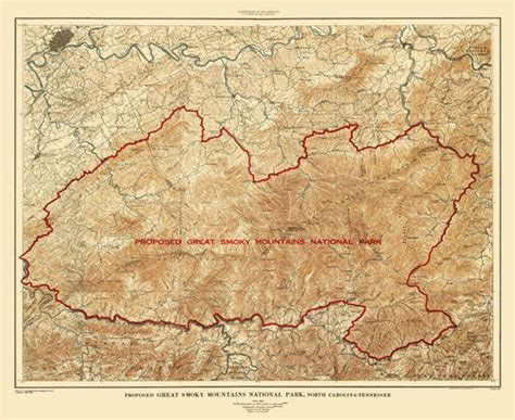 smoky mountains tennessee map details about topographical map great smoky mountains