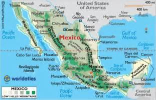 mexico maps mexico map of mexico landforms of mexico