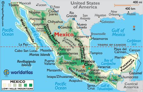 atlas map of mexico mexico maps mexico map of mexico landforms of mexico