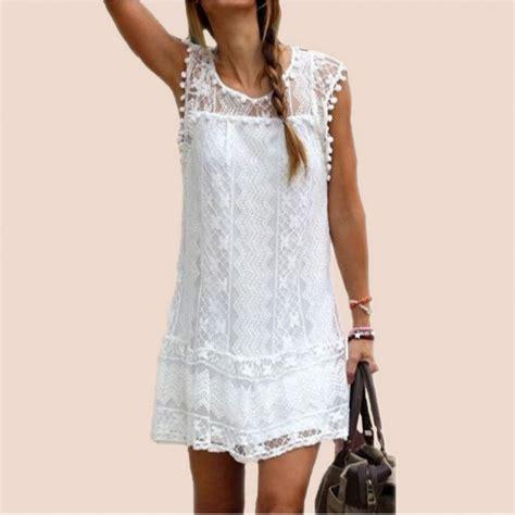 Robe De Soirée Taille 46 - robe summer robe dentelle blanche et noir robe grande