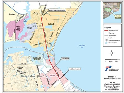 map of seabrook texas seabrook tx official website sh 146 expansion project