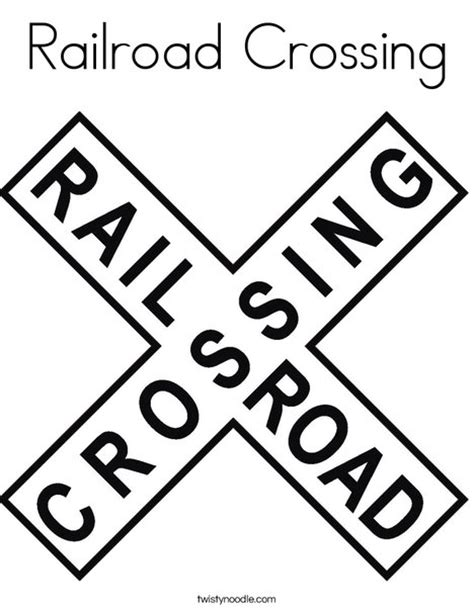 train crossing coloring page railroad crossing coloring page twisty noodle