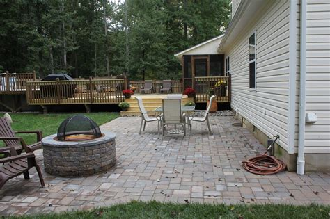 Paver Patios With Fire Pit All Home Design Ideas Best Paver Patios With Pit