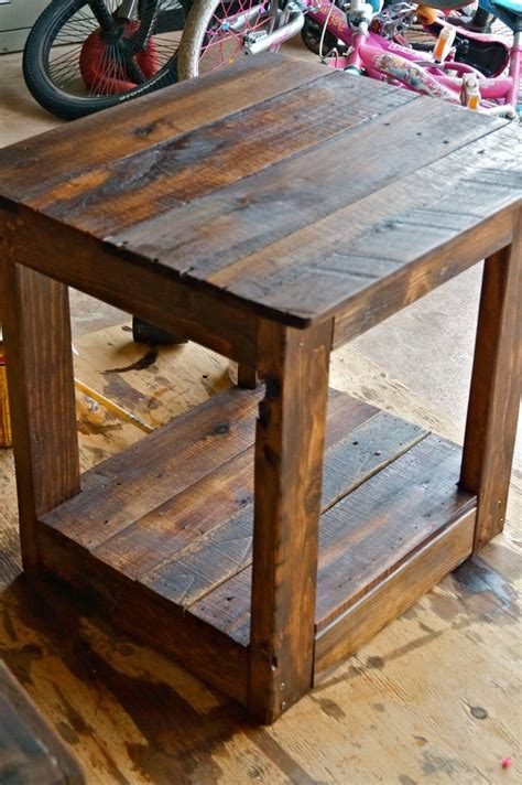 Handmade End Tables - rustic handmade end side table